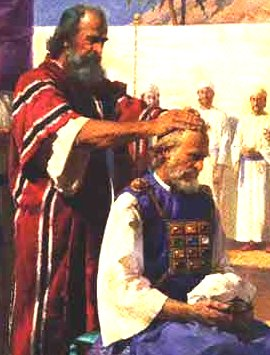 Moses ordains Aaron